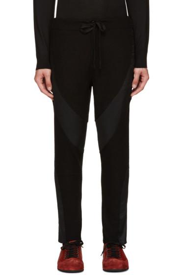 Ann Demeulemeester - Black Wetsuit Lounge Pants