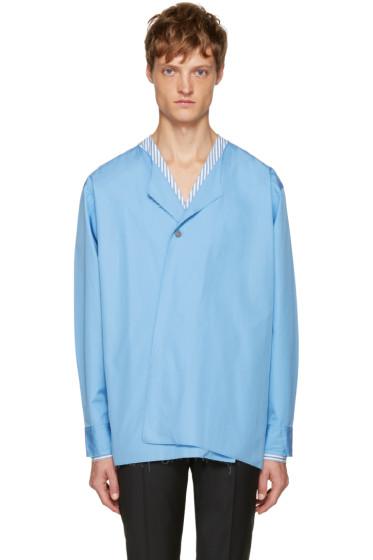 Marni - Blue Single-Button Shirt