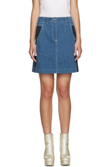 Kenzo - Blue Speckled Denim Skirt