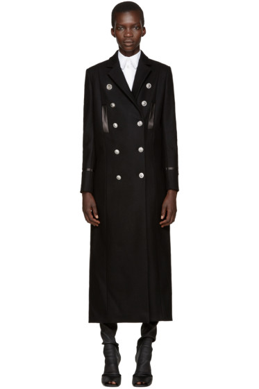 Versus - Black Wool Long Coat