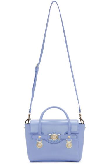 Versace - Blue Leather Medallion Satchel