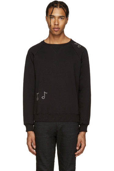 Saint Laurent - Black Crystal Embellished Sweatshirt