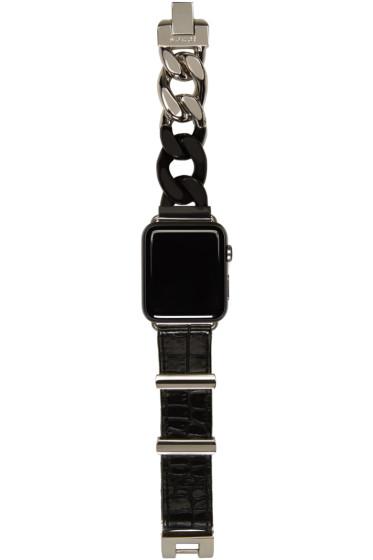 Sacai - Black & Silver Apple Watch Band