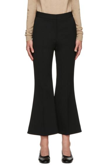 Stella McCartney - Black Cropped Flared Trousers