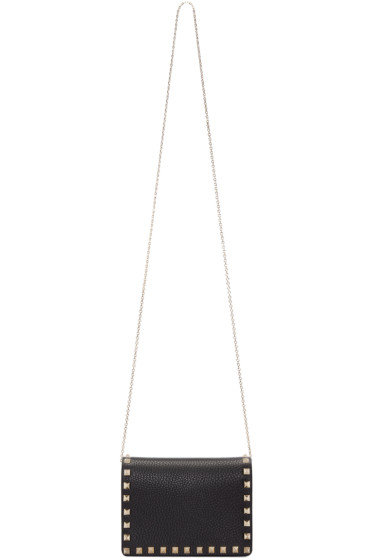 Valentino - Black Small Rockstud Shoulder Bag