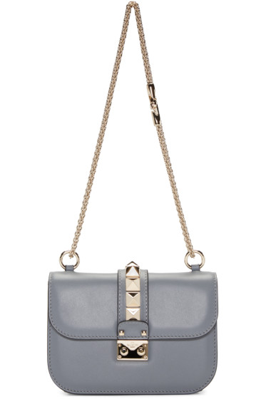 Valentino - Grey Small Lock Bag