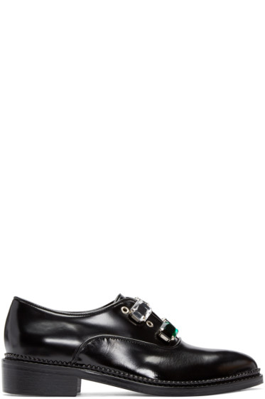 Toga Pulla - Black Rhinestone Oxfords