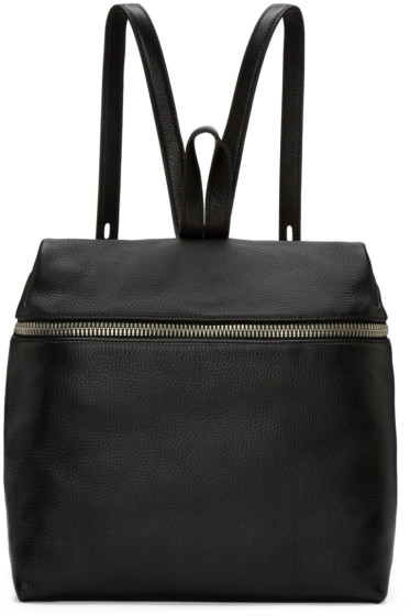 Kara - Black Leather Backpack
