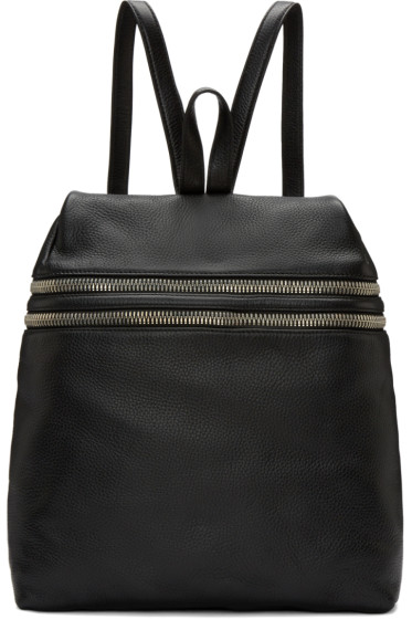 Kara - Black Double Zip backpack