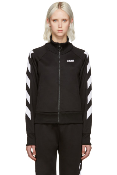 Off-White - Black Sporty Logo Zip-Up