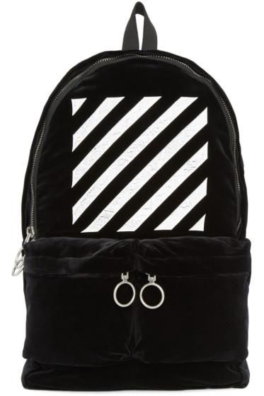 Off-White - Black Velvet Backpack