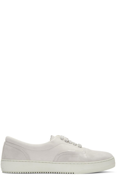 Off-White - Grey Kudu Leather Deck Sneakers