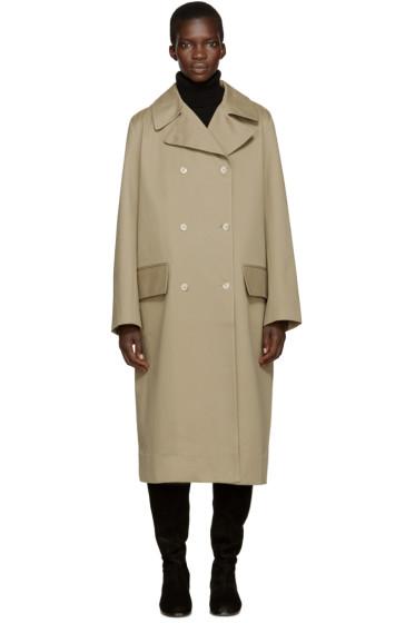 Studio Nicholson - Khaki Hopper Trench Coat
