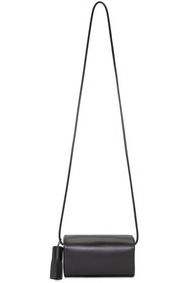 Building Block - Black Leather Petite Shoulder Bag