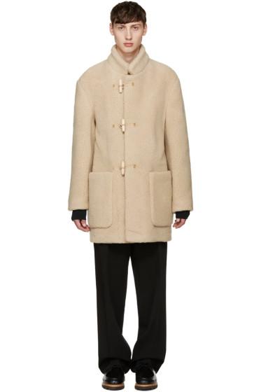 Lemaire - Beige Shearling Duffle Coat