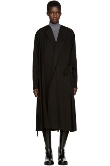 Y's - Black Wrap Dress