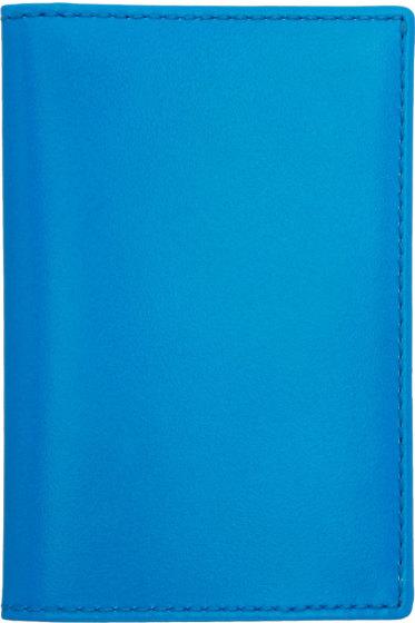 Comme des Garçons Wallets - Blue Super Fluo Card Holder