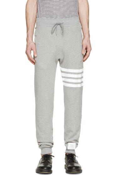 Thom Browne - Grey Striped Classic Lounge Pants