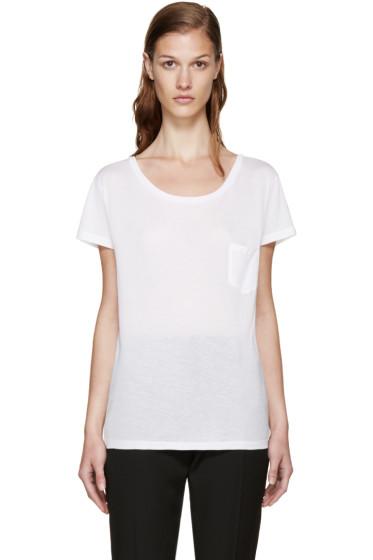 Saint Laurent - White Classic Pocket T-Shirt