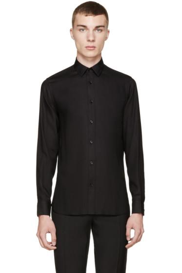 Saint Laurent - Black Button-Up Shirt