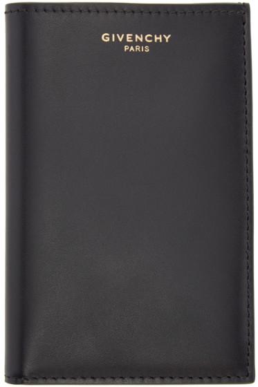 Givenchy - Black Leather Logo Card Holder