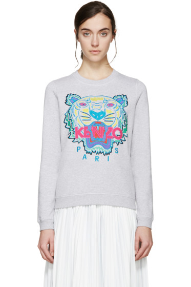 Kenzo - Grey Embroidered Tiger Pullover