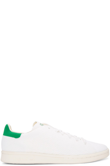 adidas Originals - White & Green Stan Smith OG PK Sneakers