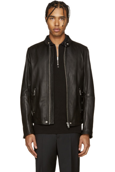 Diesel - Black Leather L-Roshi Jacket