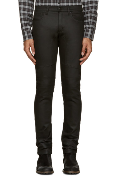 Belstaff - Black Denim Raw Stretch Jeans