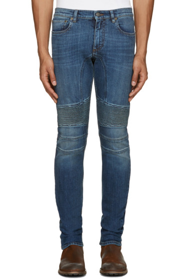 Belstaff - Blue Skinny Biker Jeans