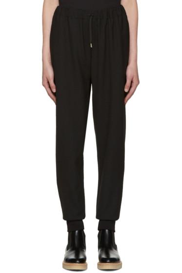 McQ Alexander Mcqueen - Black Textured Lounge Pants
