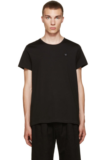 Acne Studios - Black Standard Face T-Shirt