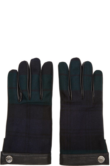 Dsquared2 - Green Plaid Gloves