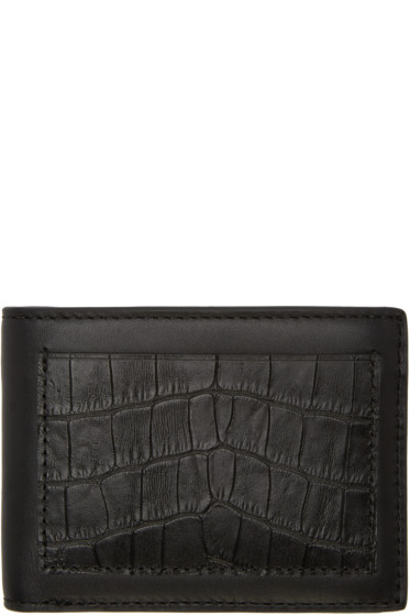Alexander Wang - Black Croc-Embossed Wallet