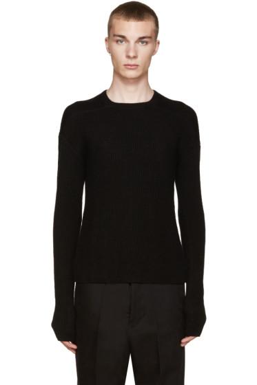 Rick Owens - Black Cashmere Biker Sweater