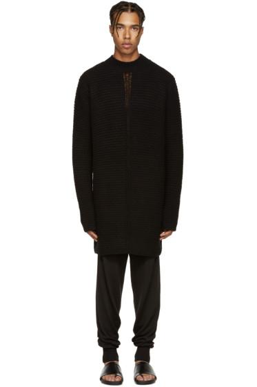 Rick Owens - Black Oversize Lupito Sweater