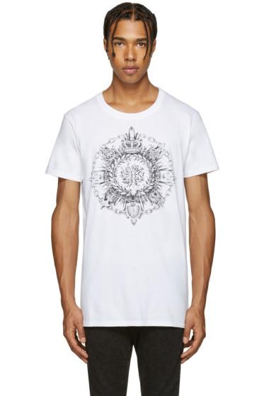 Balmain - White New Logo T-Shirt