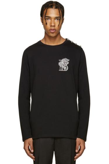 Balmain - Black Embroidered 'B' T-Shirt