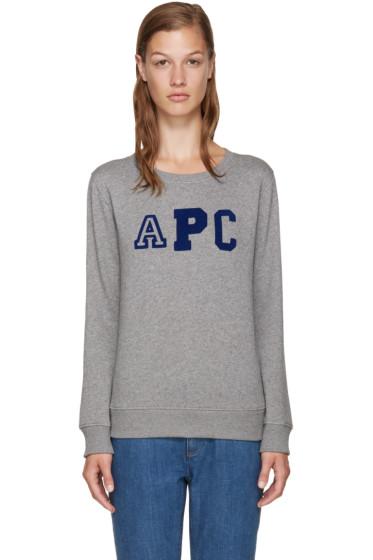 A.P.C. - Grey Collegienne Sweatshirt