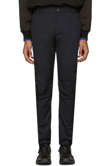 Lanvin - Navy Wool Biker Trousers