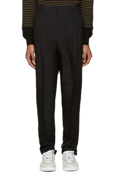Lanvin - Black Pleated Trousers