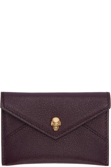Alexander McQueen - Purple Skull Card Holder