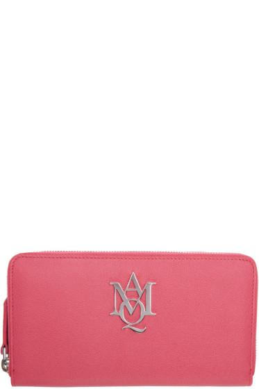 Alexander McQueen - Pink Insignia Wallet