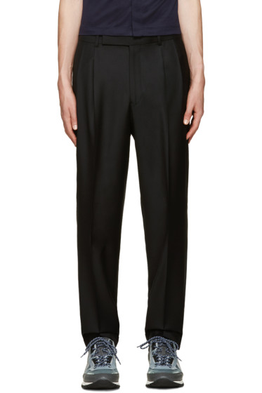 Paul Smith - Black Wool Pleated Trousers