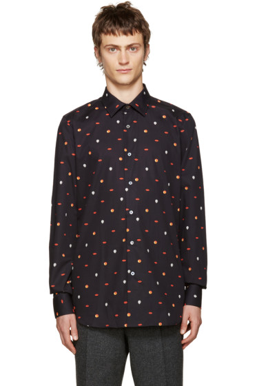 Paul Smith - Navy Patterned Shirt