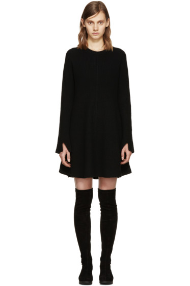 Proenza Schouler - Black Wool Knit Dress