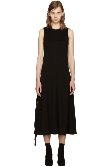 Proenza Schouler - Black Side-Slit Dress