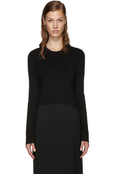 Proenza Schouler - Black Cropped Sweater