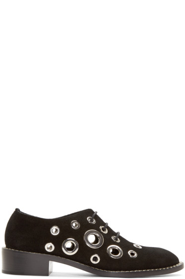 Proenza Schouler - Black Eyelet Oxfords