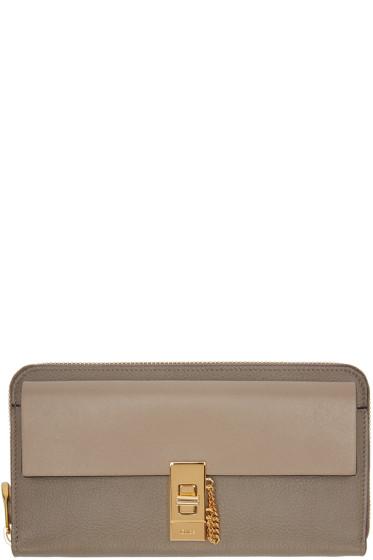 Chloé - Grey Long Drew Wallet